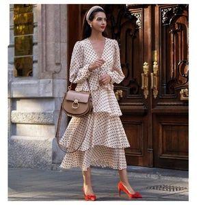 Zara polka dot dress with ruffles (5107)